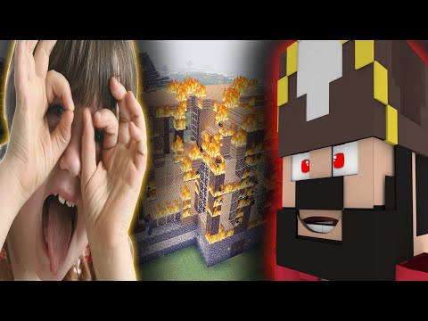 Blaming a Squeaker For Griefing His Own World (Minecraft Trolling & Griefing)