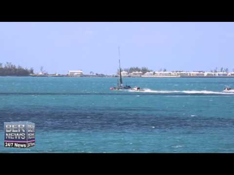 ORACLE Team USA Sailing The Great Sound, May 4 2015