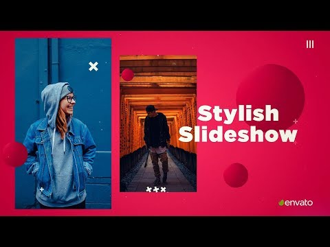 After Effects: Stylish Slideshow Template