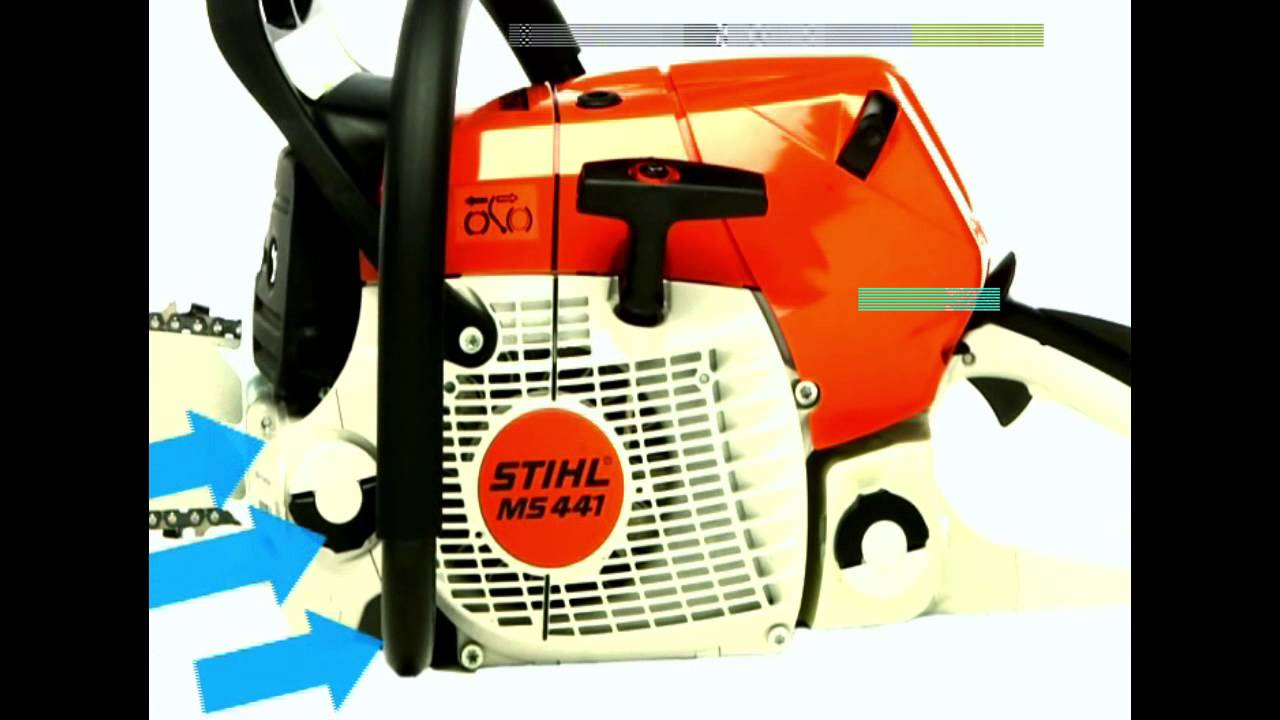 ms 441 stihl magnum® chainsaw filtration - youtube