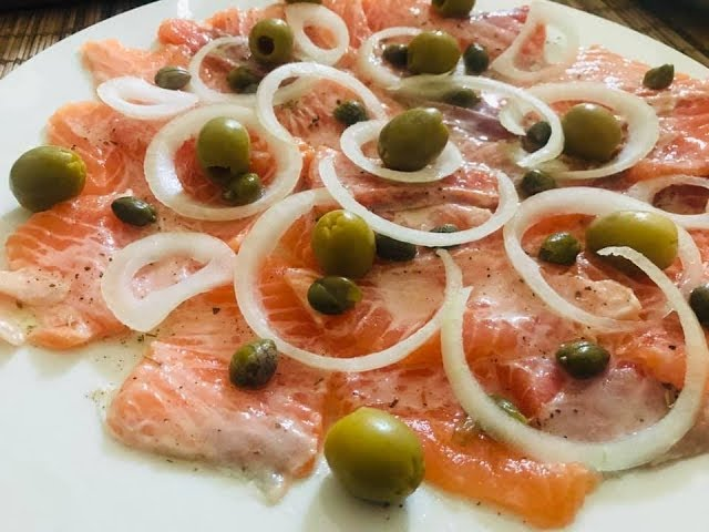 Comment faire du Carpaccio de saumon/Salmon #Carpaccio