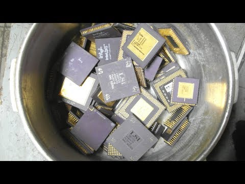 GOLD recovery from 2kg mixed ceramic CPUs