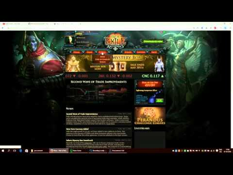 Procurement download and setup of a Path of Exile shop