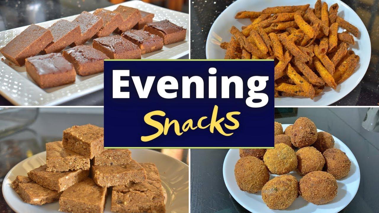Easy Evening Snacks   Parle G Choco Squares   Air fried Pasta   Peanut butter Fudge   Fish Balls