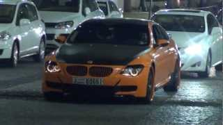 orange/black tuned BMW M6 - JBR The Walk in Dubai Marina