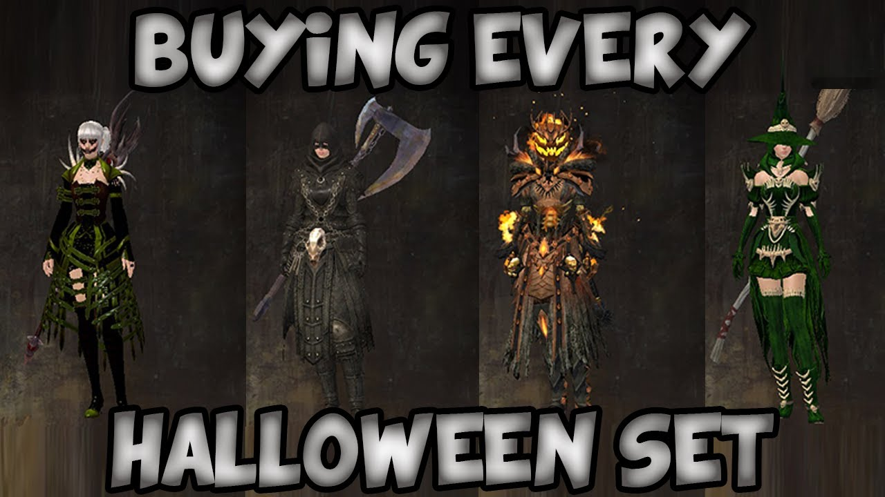 BUYING EVERY HALLOWEEN 2013 SET! | Guild Wars 2 Gemstore Shopping ...