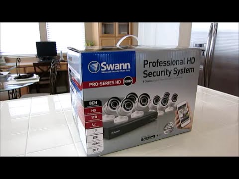 New 8 Channel 1080P Swann security system Install Review & U
