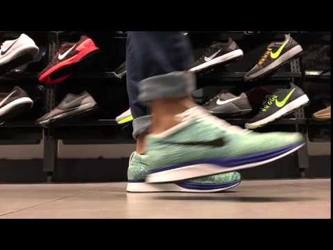 low priced 0541d 3c683 Nike Flyknit Racer  Blue Green White  On Feet