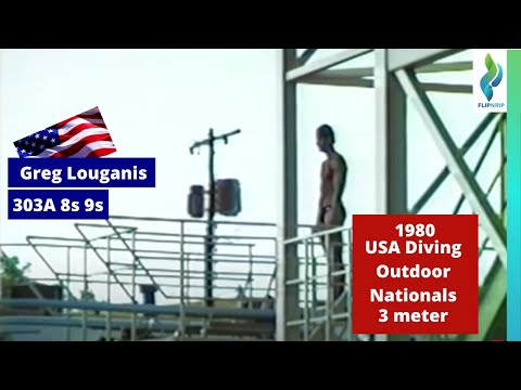 1984? Greg Louganis practices 3m in Mission Viejo
