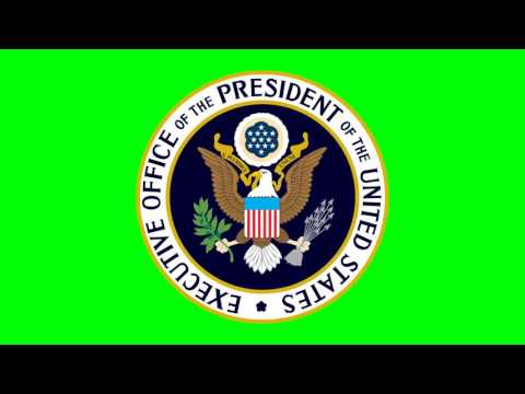 Executive Office of the President of the United States Logo - Green Screen Footage