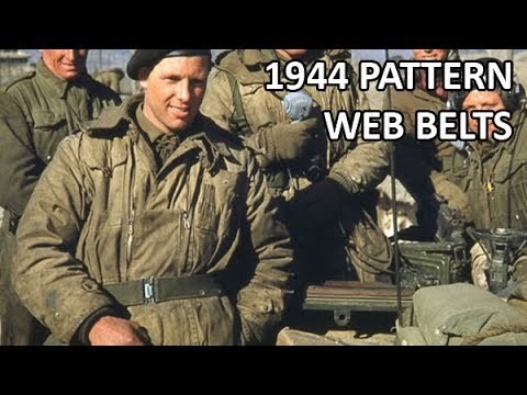 British 1944 Pattern Web Belts