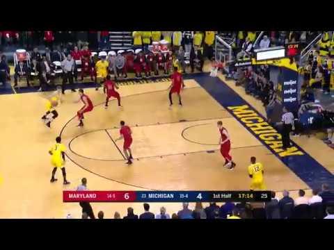 Big Ten Basketball Highlights: Maryland at Michigan