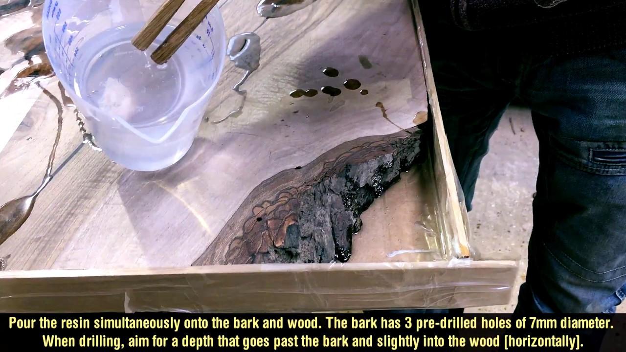 Wood Diy Epoxy Resin Table Corner Part I Youtube