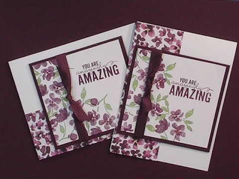 2015 Stampin'Up! Occasions Painted Petals Card YouTube
