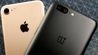 iPhone 7 vs OnePlus 5 Speed Test!