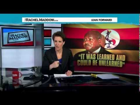 Rachel Maddow-US influence helps draft Uganda anti-gay bill 24.02.2014