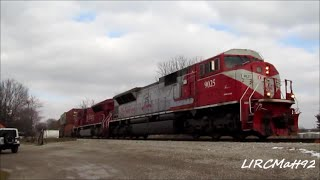 INRD 9025 leading  a intermodal train in southern Indiana