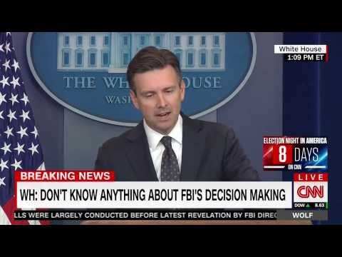 White House: Obama thinks James Comey is a man of integrity