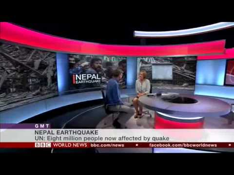 Barnaby Willitts-King on the Nepal earthquake aid response - BBC World News