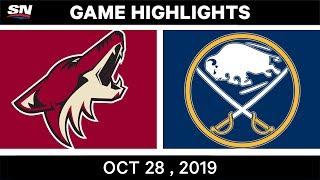 NHL Highlights   Coyotes vs. Sabres – Oct. 28, 2019