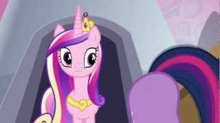 Twilight Sparkle - Sunshine, sunshine, ladybugs awake. Clap your hooves and do a little shake.