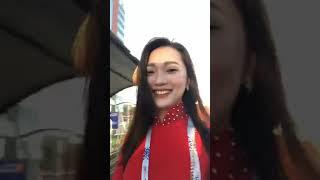 bạn gái Ngọc Nữ-người yêu tin đồn cầu thủ Phan Văn Đức live stream xinh như thiên thần.