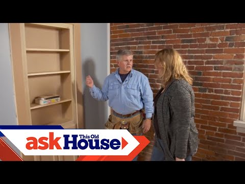 living room shelving units decor ideas with fireplace how to install a hidden door/bookshelf - youtube