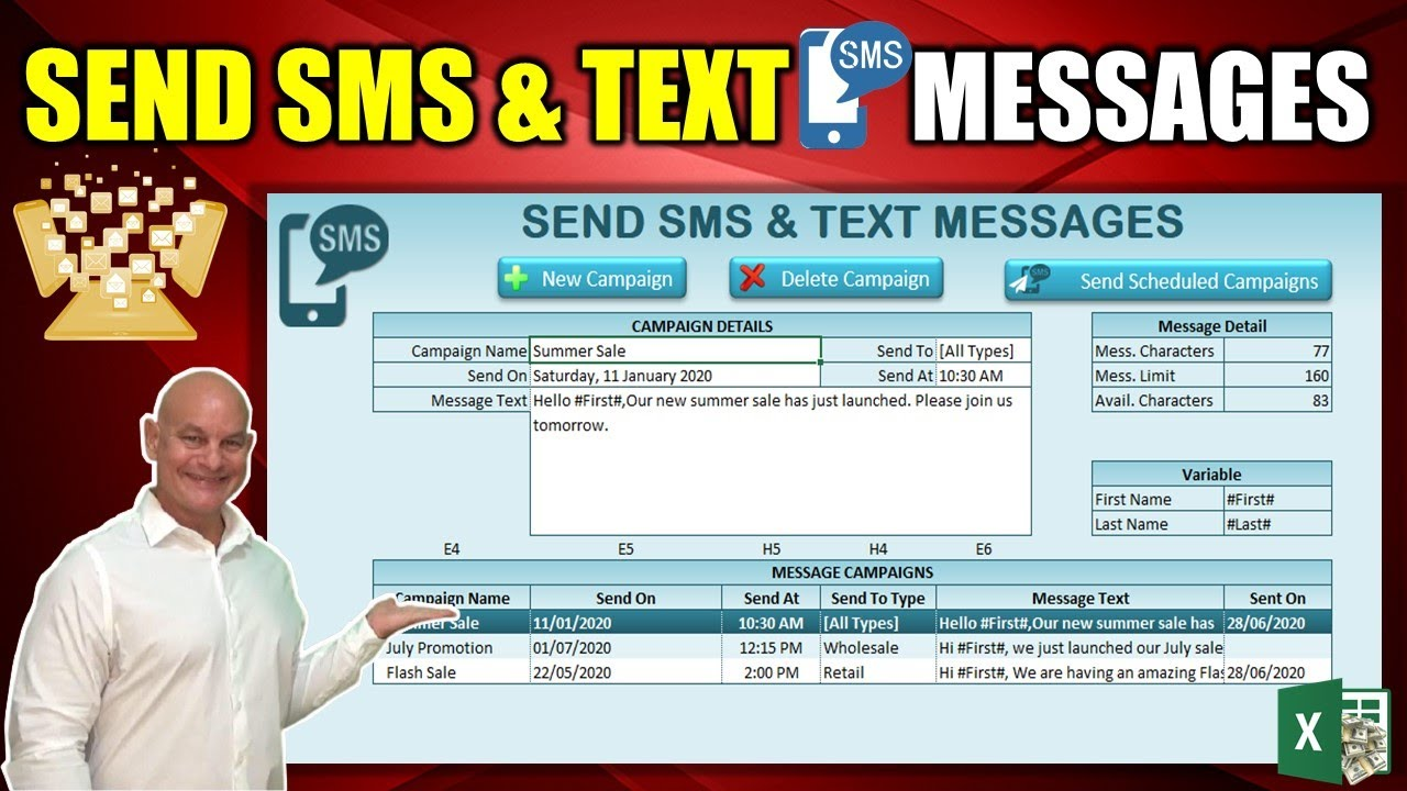 Learn How To Send Unlimited SMS & Text Messages From Excel To Anyone In The World [Free Download]