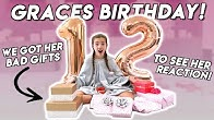 GRACES 12th BIRTHDAY- OPENING HER PRESENTS!!