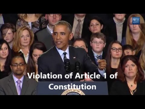 Obama Violation Article One of U.S. Constitution