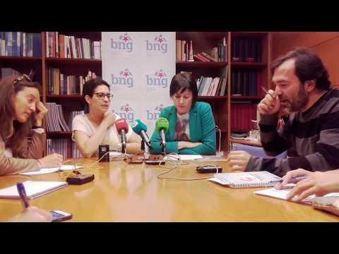 Rolda de prensa con Ana Pontón a respecto do proxecto do BNG sobre os peiraos interiores