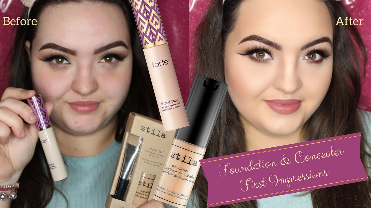 TARTE SHAPE TAPE CONCEALER & STILA STAY ALL DAY FOUNDATION ...