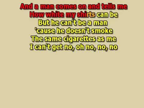 I can't get no satisfaction The Rolling Stones best karaoke instrumental lyrics