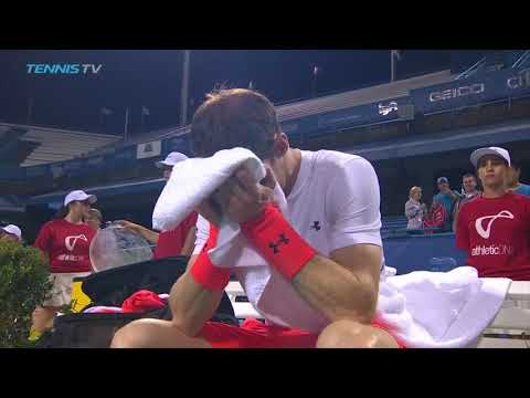 Andy Murray Breaks Down in Tears After 3am Washington Win | Citi Open 2018