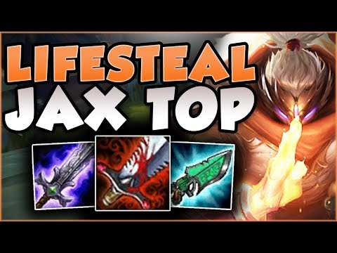FULL LIFESTEAL MAKES JAX LITERALLY UNSTOPPABLE?! FULL LIFESTEAL JAX TOP GAMEPLAY! League of Legends