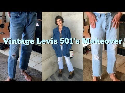 DIY The Perfect Boyfriend Jean ~ How To Cut, Fray & Bleach Vintage Distressed Levis 501's