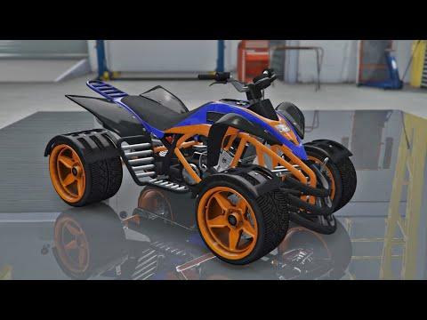 Nagasaki Street Blazer CUSTOMIZATION & TEST - Grand Theft Auto V ONLINE BIKER DLC