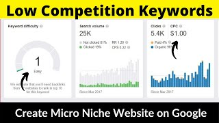 Low Competition Keywords #5 | Micro Niche Website | High Paying CPC