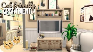 CAT FRIENDLY APARTMENT 🐱 | Sims 4 Speed Build