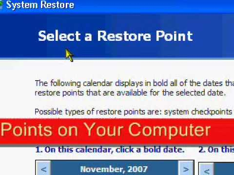 System Restore In XP