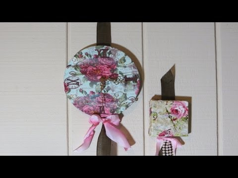 Clock from Canvas Decoupage with Fabric tutorial