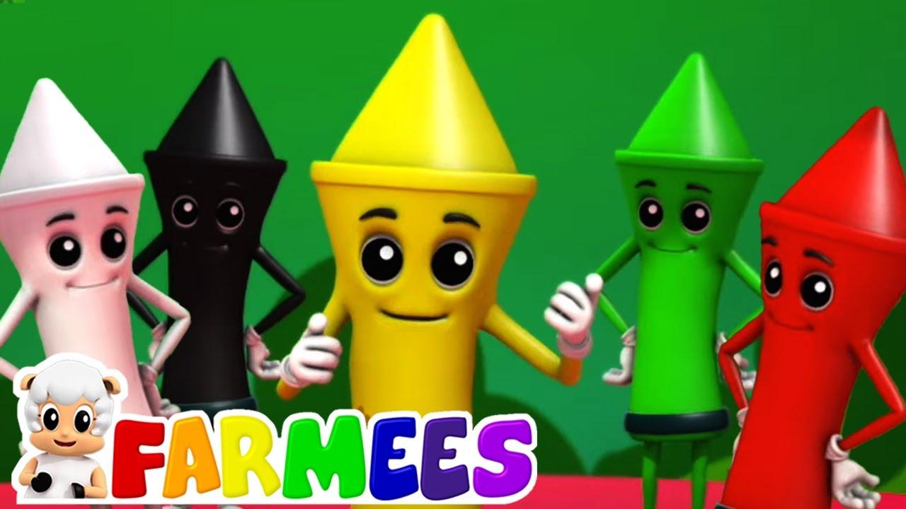Crayones colores canción | Dibujos animados | Farmees Español | Rimas para niños