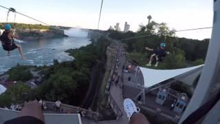 Zip Lining  at Niagara Falls 🌊