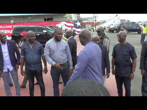 President Weah Returns Home from Franco African Summit in Congo Brazzaville