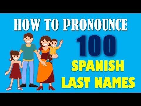 How To Pronounce Spanish Last Names (apellidos Hispanos)
