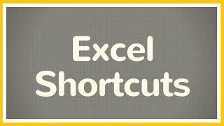 Time Saving Excel Shortcuts - Tutorial