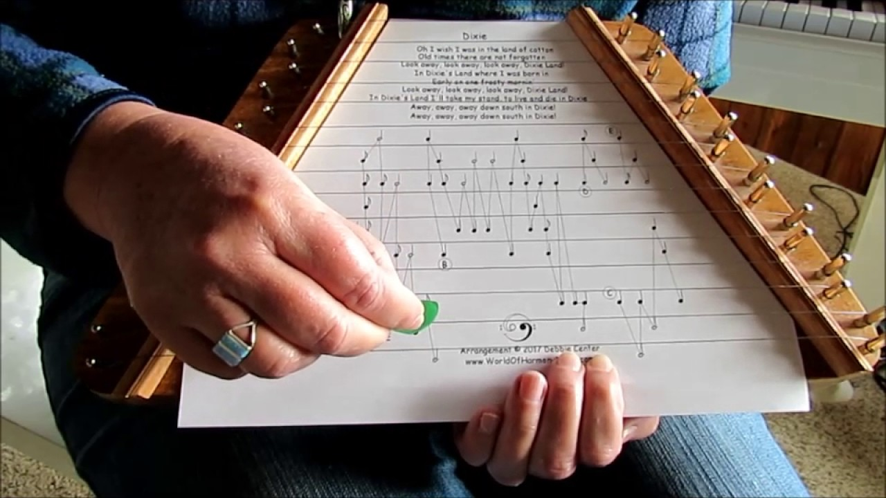 graphic about Free Printable Lap Harp Sheet Music named \