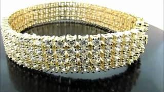 "8"" 4 ROWS Iced out Pharaoh CZ Bracelet(BRCZ-0409GR) Thumbnail"