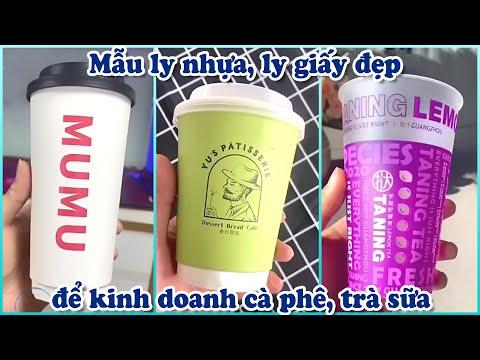 Kiểu ly nhựa, ly giấy in logo đẹp mắt để kinh doanh cà phê, trà sữa Đài Loan hot hiện nay #2