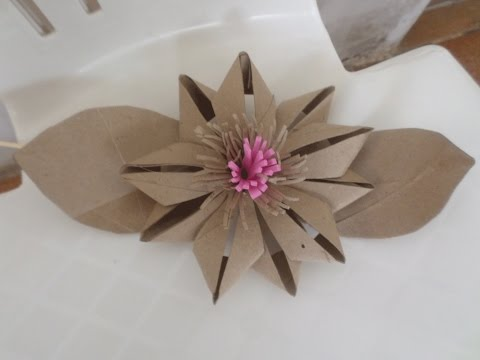 Toilet Paper Roll Flower - DIY